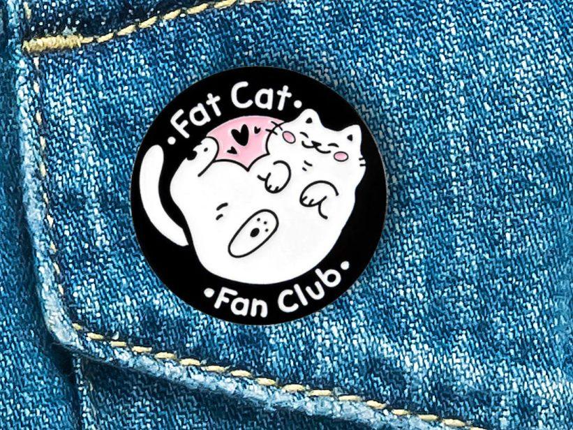 Pin Pisica Fat Cat Fan Club