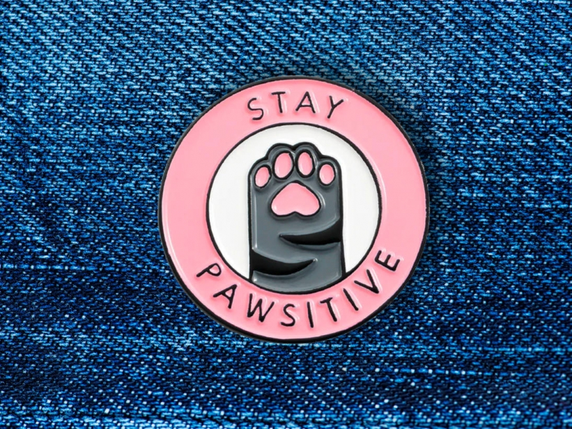 Insigna Pisica Stay Paw-sitive